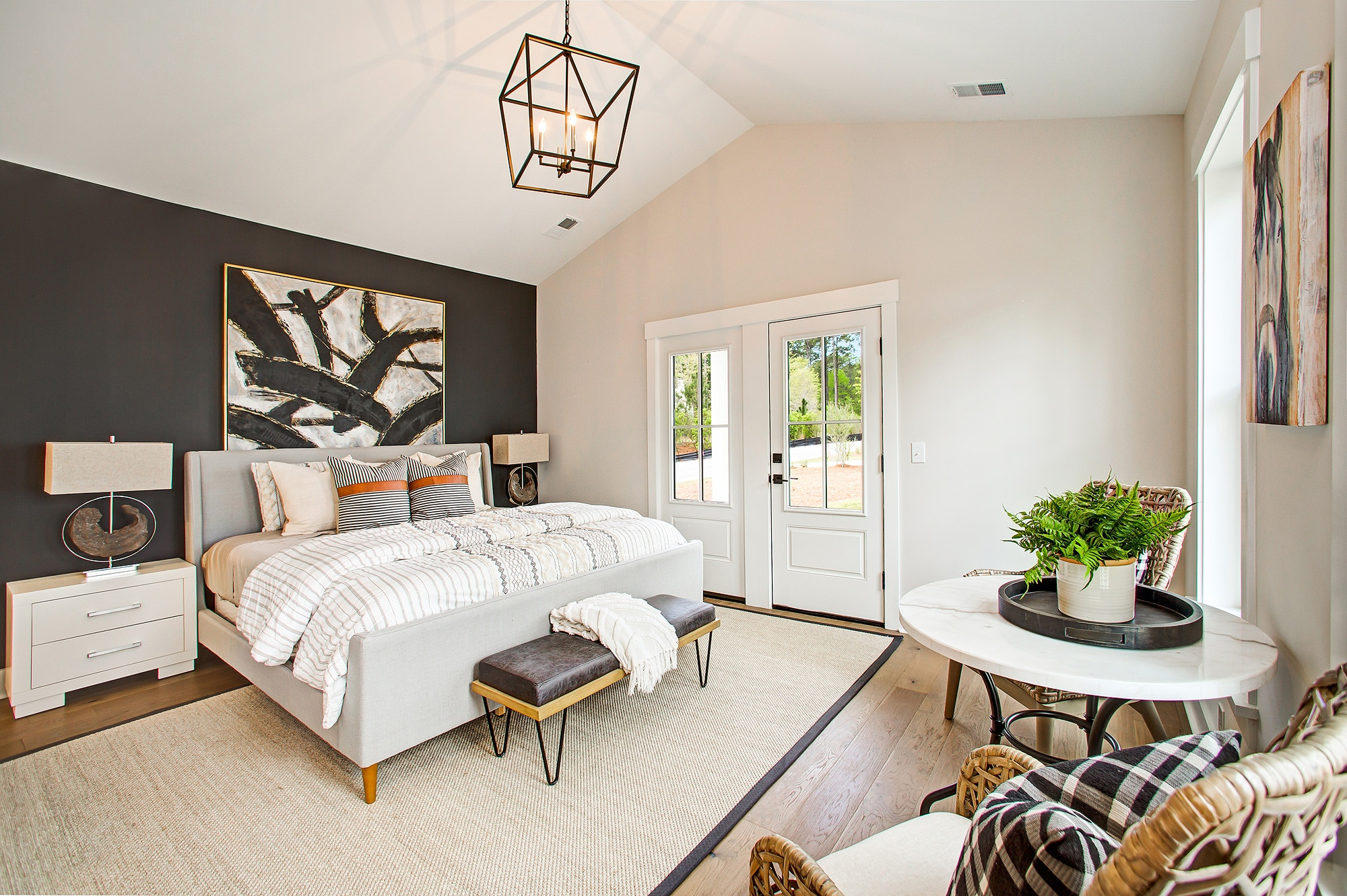 Guest Bedroom Wood Leather=