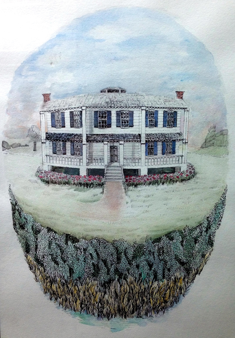 Octagon House painted by Dylan Sell